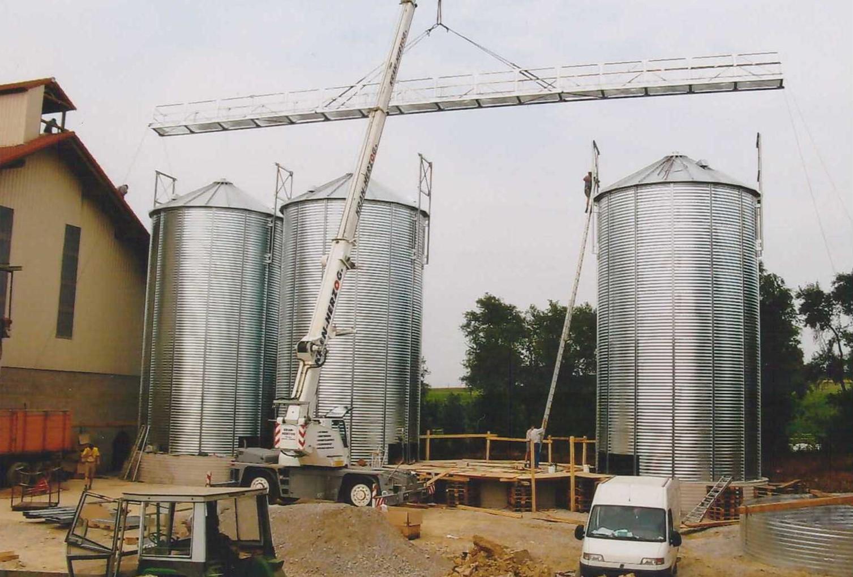 2005 – Installation Außensilos