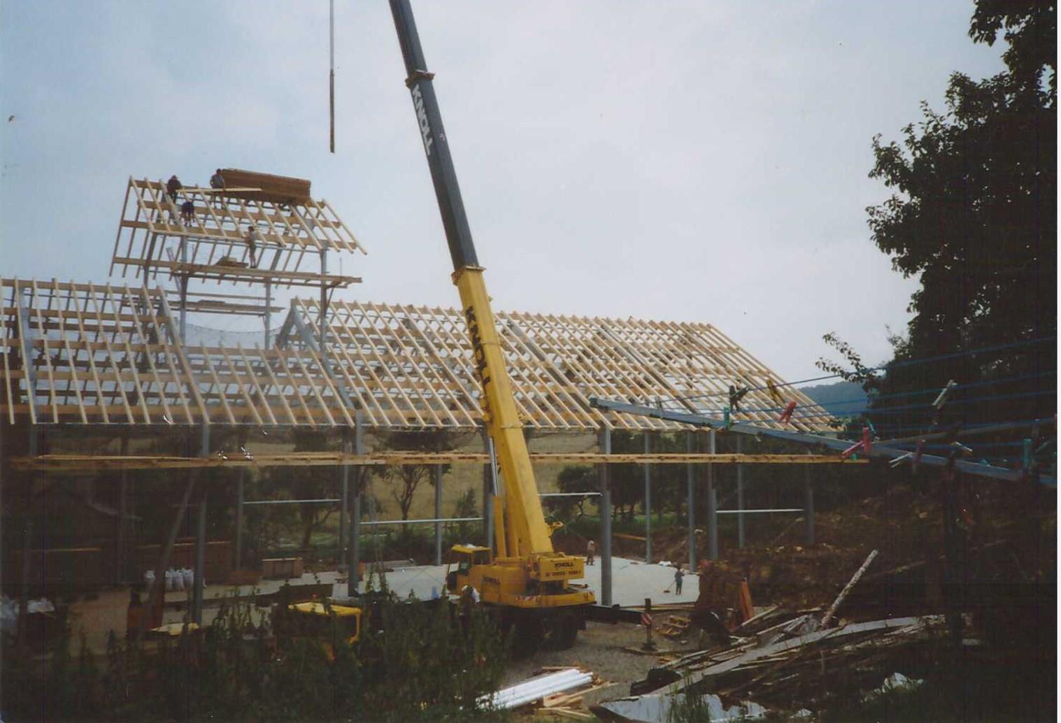1995 – Bau der zweiten Lagerhalle